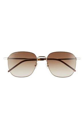 Saint Laurent 57mm Square Sunglasses | Nordstrom