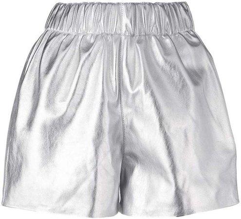 Manokhi pull-on leather shorts