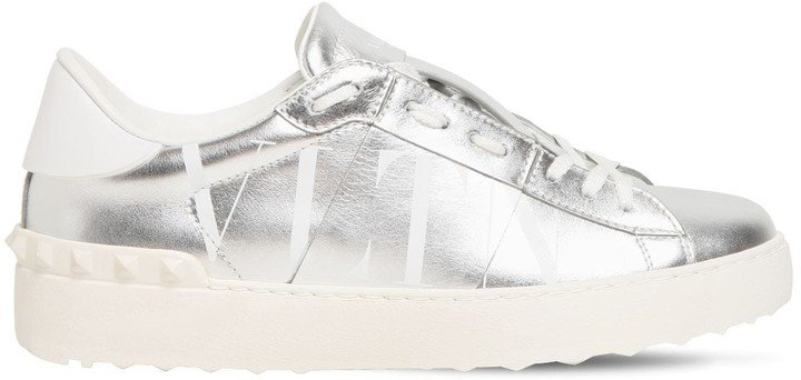 20mm Open Vltn Metallic Leather Sneakers