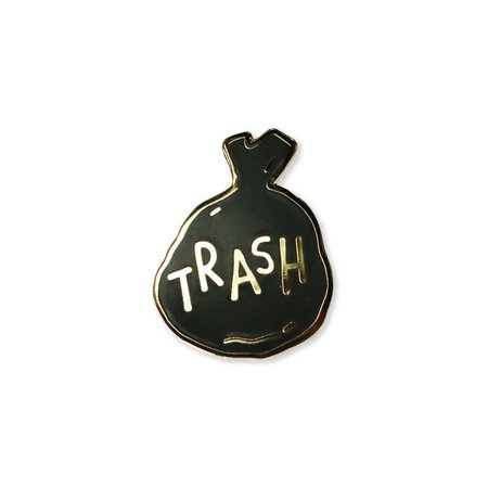 Trash Enamel Pin | Etsy
