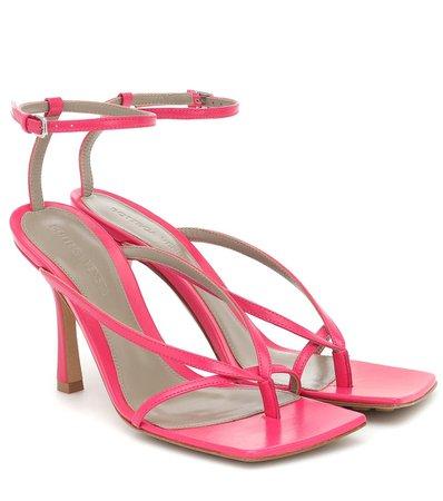 Bottega Veneta - Stretch leather sandals | Mytheresa