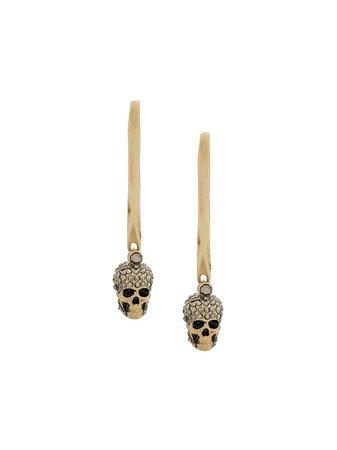 Alexander McQueen Skull Drop Earring - Farfetch