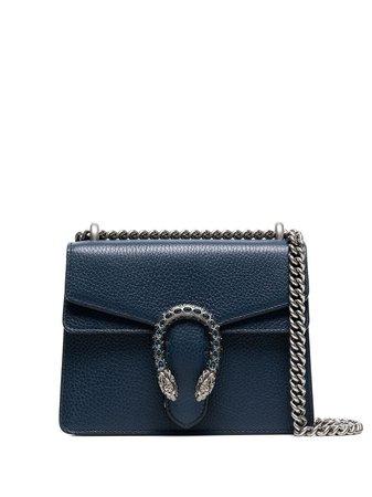 Gucci Blue Dionysus Small Leather Bag - Farfetch