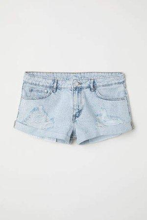 Denim Shorts Girlfriend Low - Blue