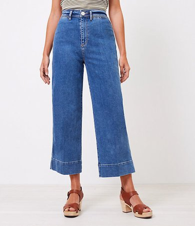 The Curvy High Waist Wide Leg Jean in Authentic Mid Vintage Wash