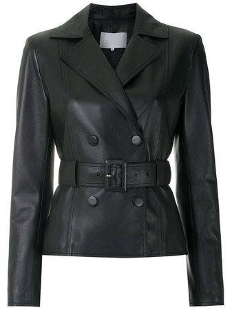 Nk Belted Leather Jacket - Farfetch