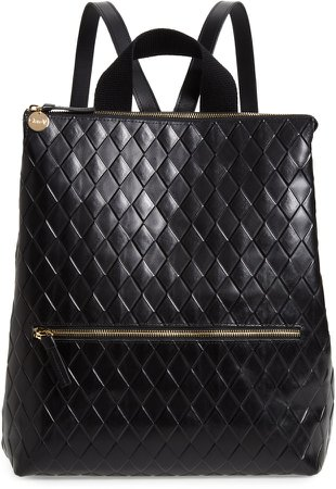 Remi Woven Leather Backpack
