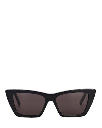 Saint Laurent Mica Cat Eye Sunglasses | INTERMIX®