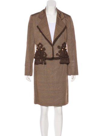Christian Dior Silk Skirt Suit - Clothing - CHR88735 | The RealReal