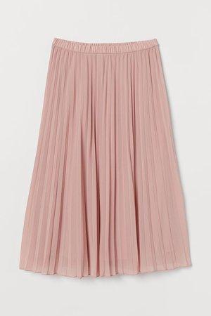 Pleated Skirt - Light pink - Ladies | H&M CA