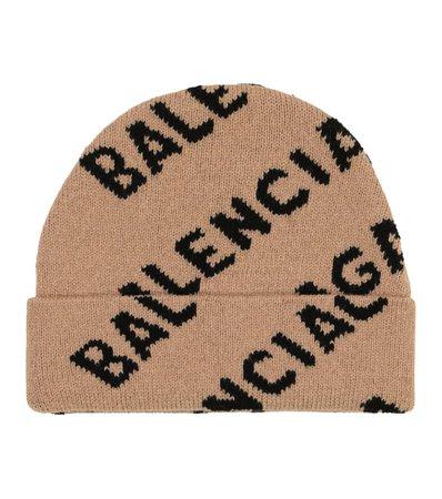 Balenciaga - Logo wool beanie | Mytheresa