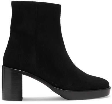 Ellen Suede Ankle Boots - Black