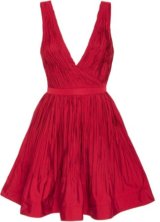 Marilou Fit-and-Flare Crepe Dress