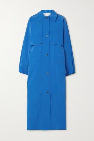 Reversible Convertible Cotton-blend Trench Coat - Blue