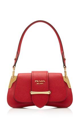 Mini Sidonie Leather Shoulder Bag by Prada   Moda Operandi