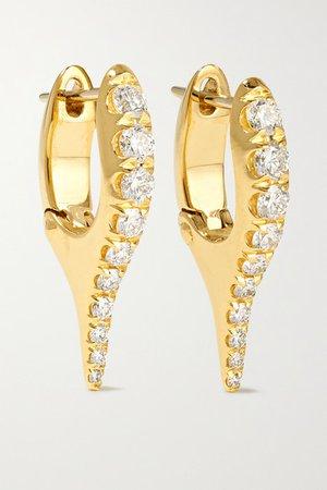 Melissa Kaye | Lola 18-karat gold diamond earrings | NET-A-PORTER.COM