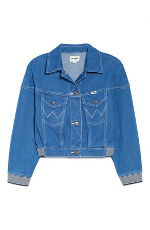 Wrangler Crop Denim Jacket | Nordstrom