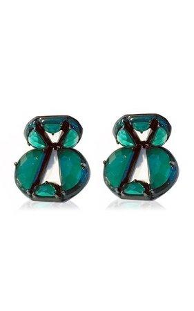 Nakard Infinity Sterling Silver Onyx Earrings By Nak Armstrong | Moda Operandi