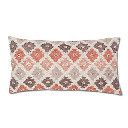 The Coral and Brown Flowers Throw Pillow | Crane & Canopy