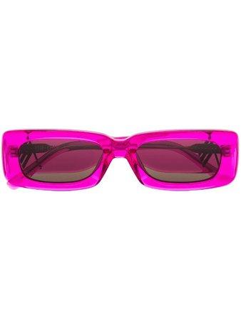 Linda Farrow x The Attico Mini Marfa rectangle-frame Sunglasses - Farfetch