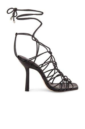 Schutz Heyde Sandal in Black   REVOLVE