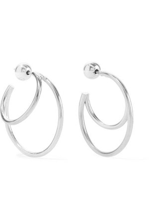 Sophie Buhai   Silver hoop earrings   NET-A-PORTER.COM