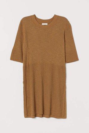 Rib-knit Top - Yellow