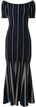 Striped Knitted Maxi Dress