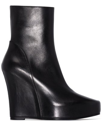 Ann Demeulemeester 125mm Wedge Ankle Boots - Farfetch