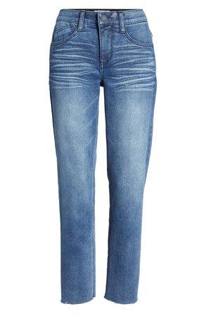 Ab-Solution Raw Hem Straight Leg Jeans | Nordstrom