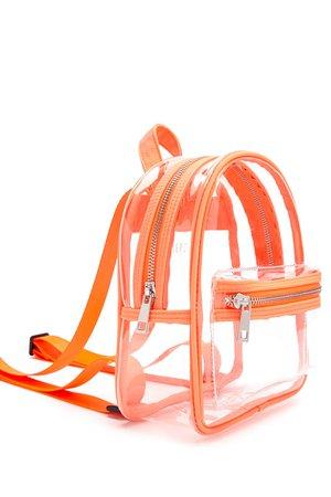 Orange/Transparent F21 Backpack