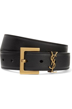 SAINT LAURENT | Embellished textured-leather belt | NET-A-PORTER.COM