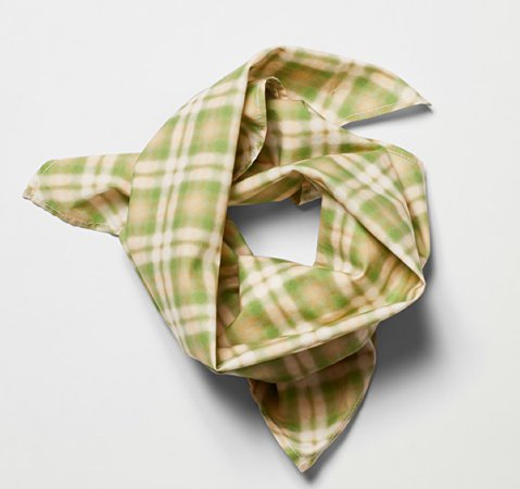 weekday bam scarf green check
