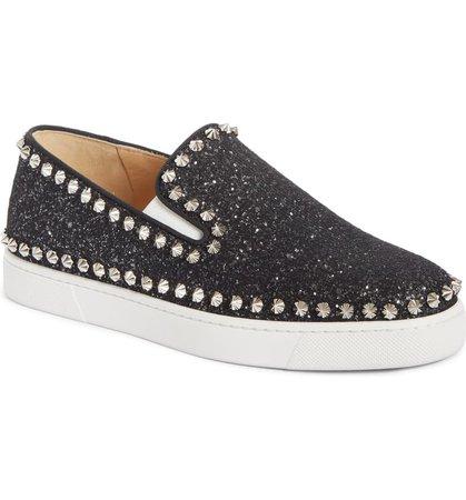 Christian Louboutin Spike Slip-On Sneaker (Women)   Nordstrom