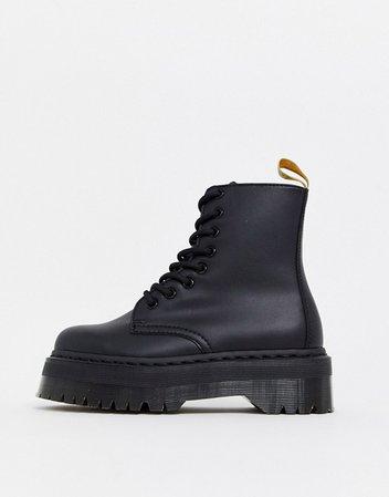 Dr Martens Jadon chunky boots in vegan black | ASOS