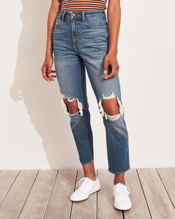 Vintage Stretch Ultra High-Rise Mom Jeans