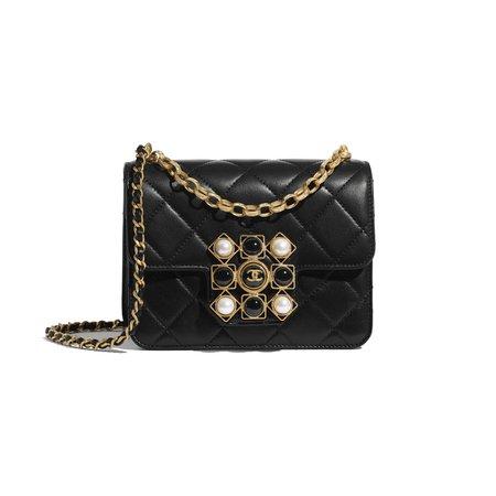 Chanel black flap bag