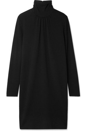 Max Mara | Lotus wool-crepe turtleneck dress | NET-A-PORTER.COM