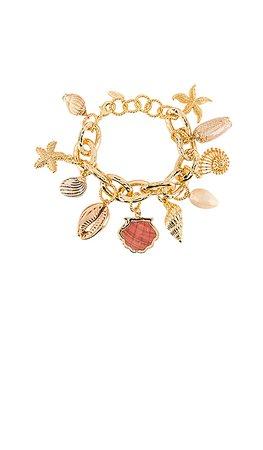 Ettika Shell Bracelet in Gold   REVOLVE