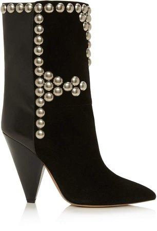 Isabel Marant Layo Leather Velvet Boots
