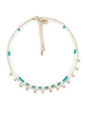 Ettika Pearl Layered Necklace in Gold | REVOLVE