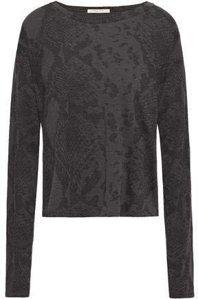 Snake-print Supima Cotton-jersey T-shirt