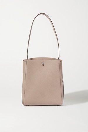 Brera Textured-leather Shoulder Bag - Neutral