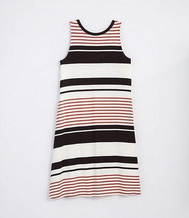 Striped Tie Back Swing Dress