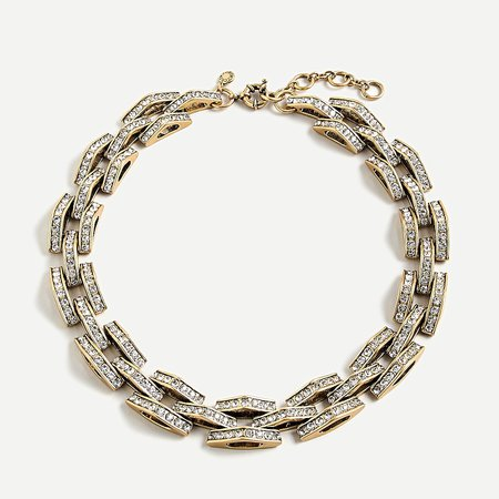 J.Crew: Chevron Chain Statement Necklace For Women