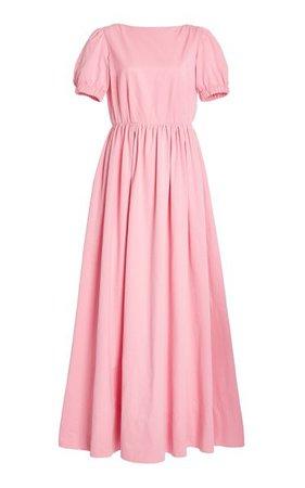 Alix Open-Back Brushed Faille Maxi Dress By Staud | Moda Operandi