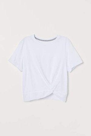 Knot-detail Sports Top - White
