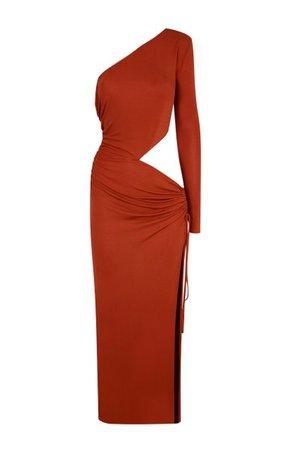 Glen Asymmetric Jersey Gown By Dundas | Moda Operandi