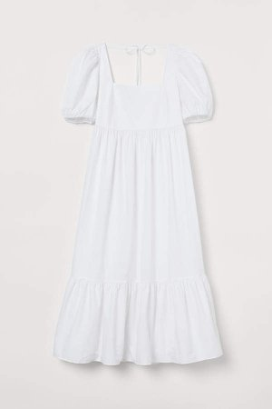 Cotton Poplin Dress - White