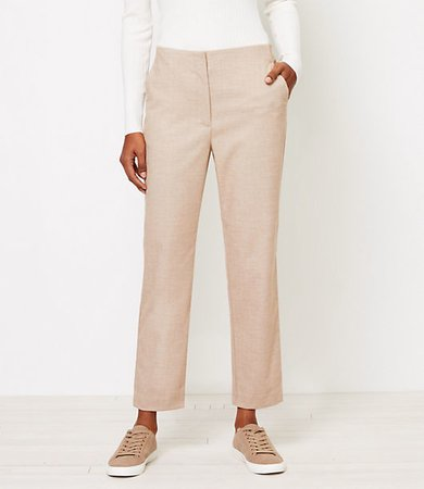 High Waist Slim Pants in Herringbone
